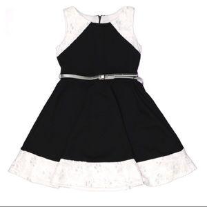 Sweet Heart Rose kids belted sleeveless dress 6X